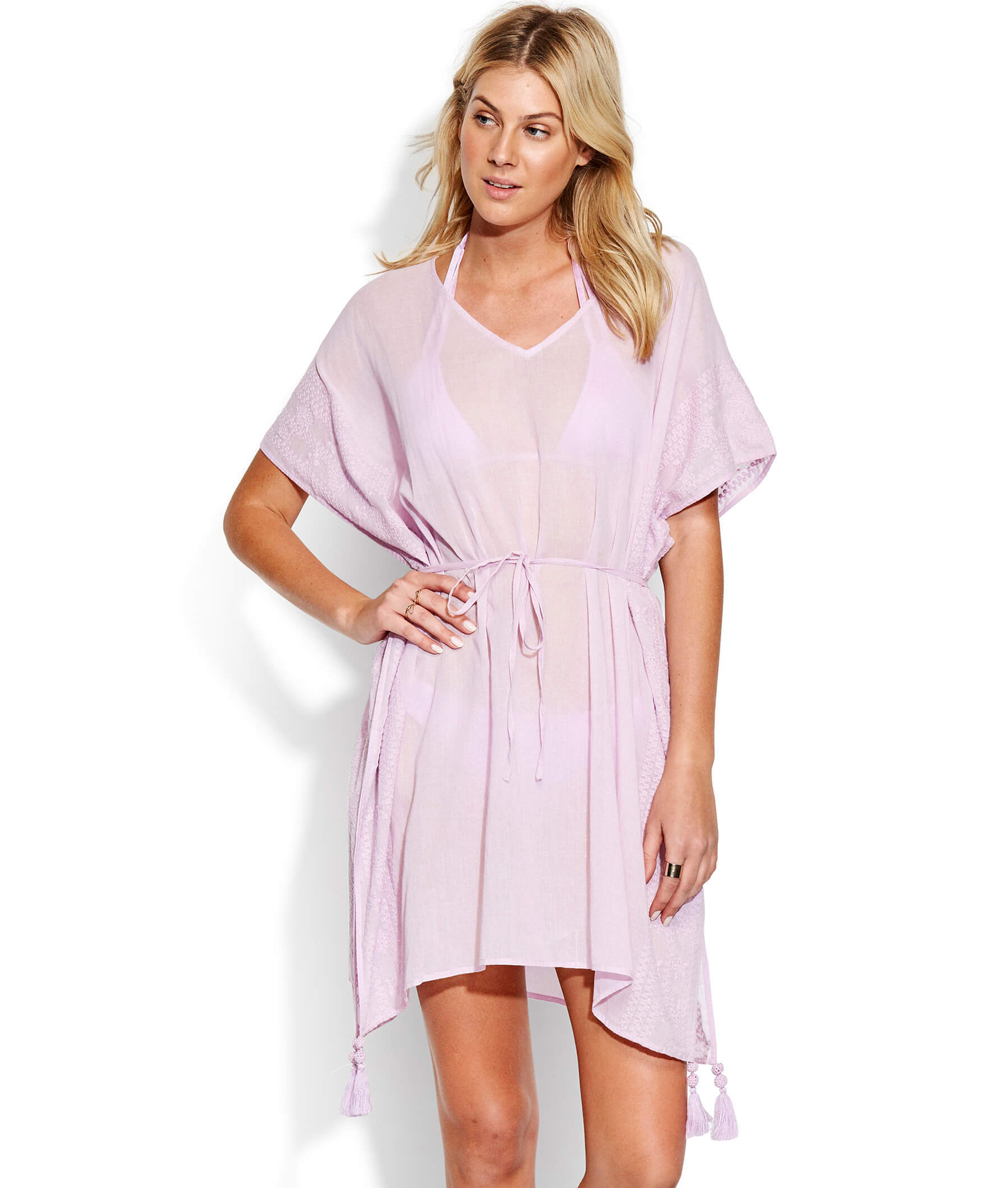 Seafolly Inka Gypsy Shadow Embroidered Kaftan