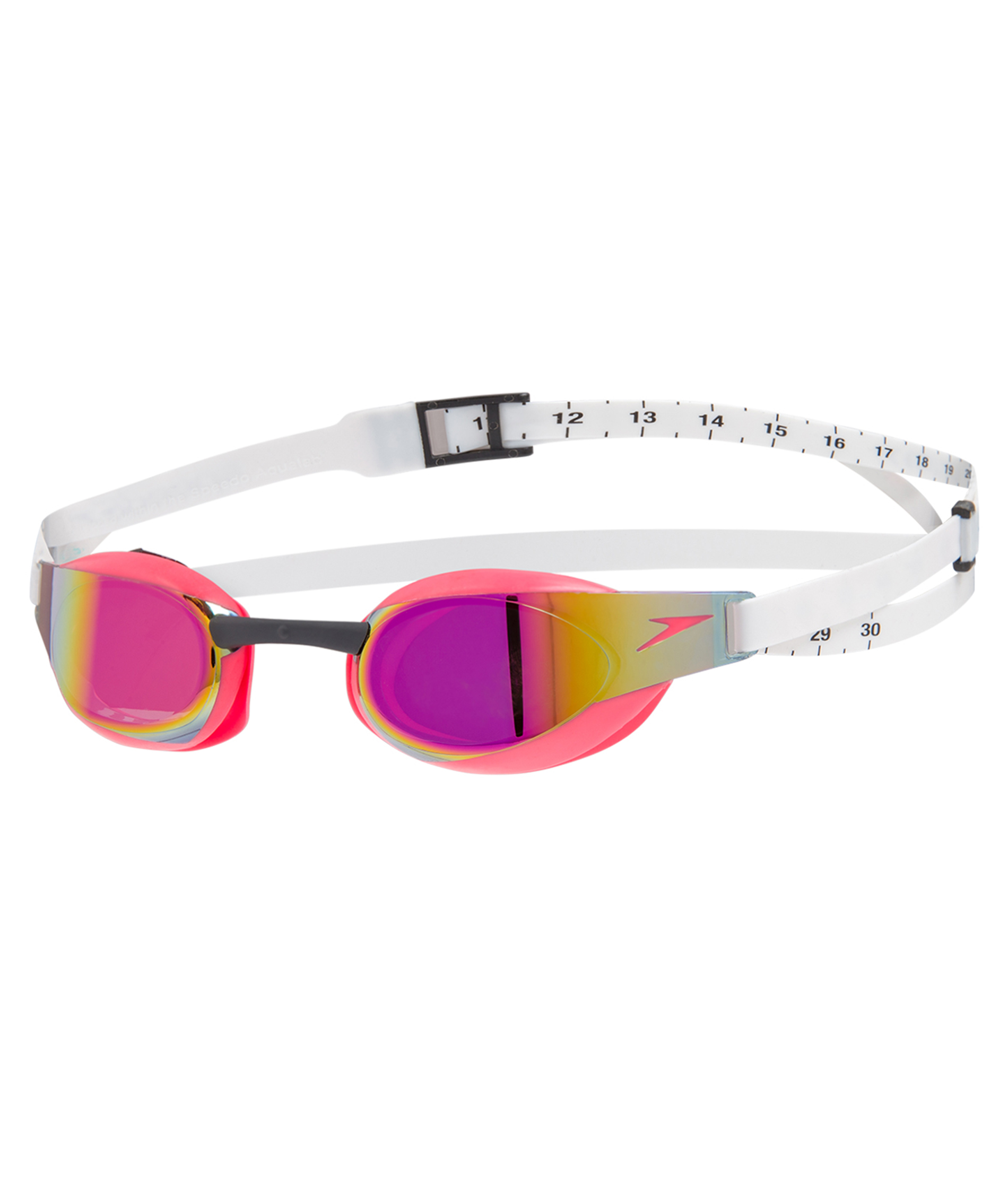 Speedo Fastskin Elite Mirror Goggle - White/Red