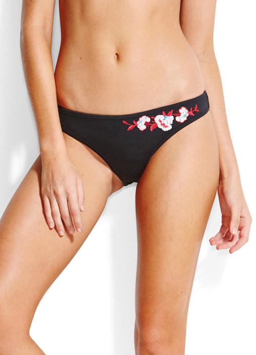 Seafolly Eastern Rose Embroidered Scuba Hipster Bikini Pant