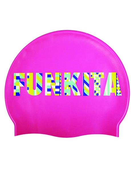 Funkita Brand Stand Swim Cap - Pink