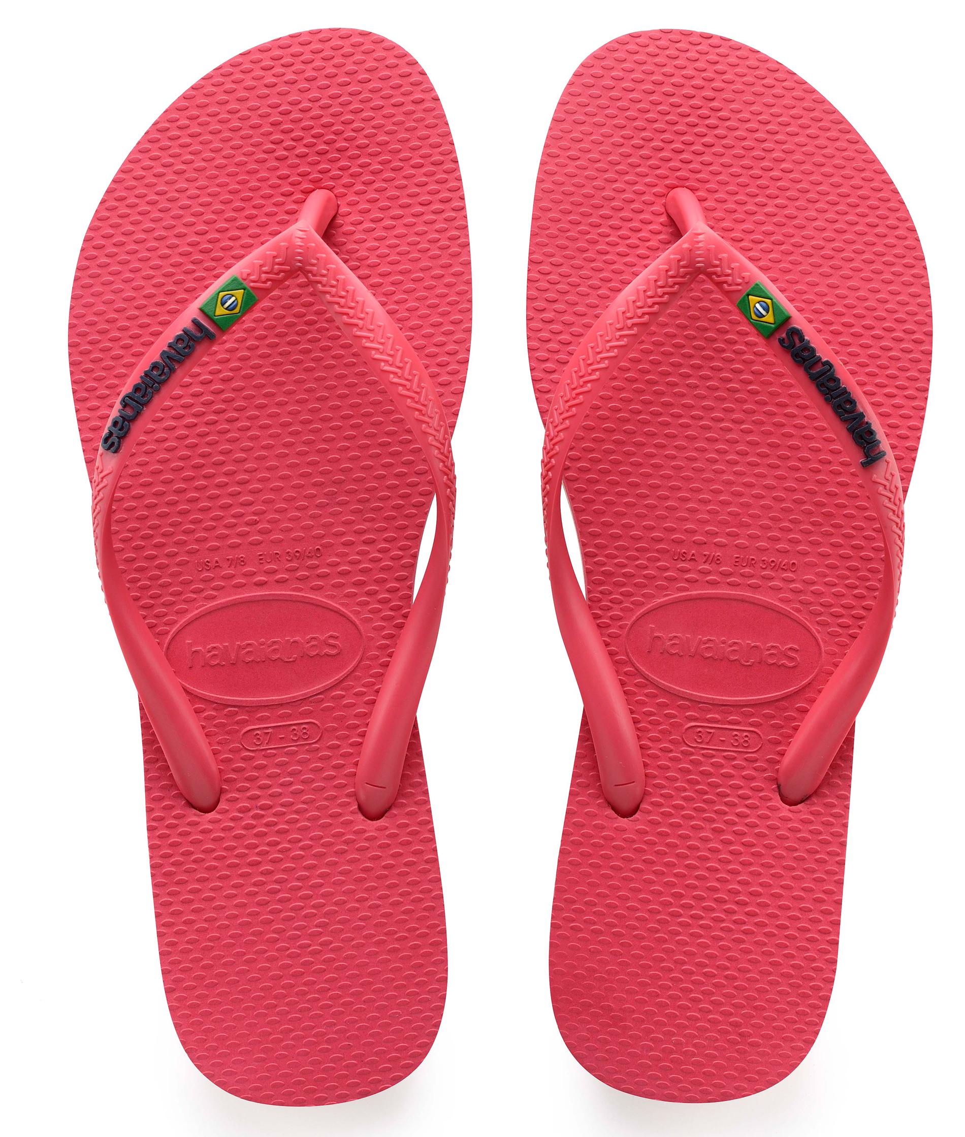 Havaians Slim Brasil Logo Flamingo