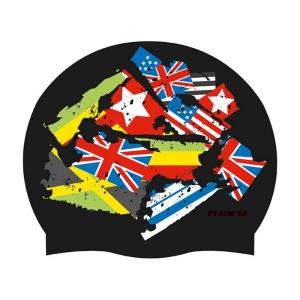 Maru Flags Silicone Swim Cap