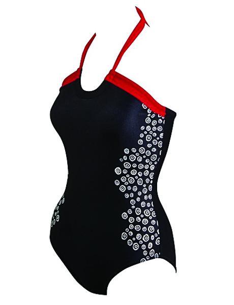 Zoggs Ladies Go Tribal Halter Neck Swimsuit