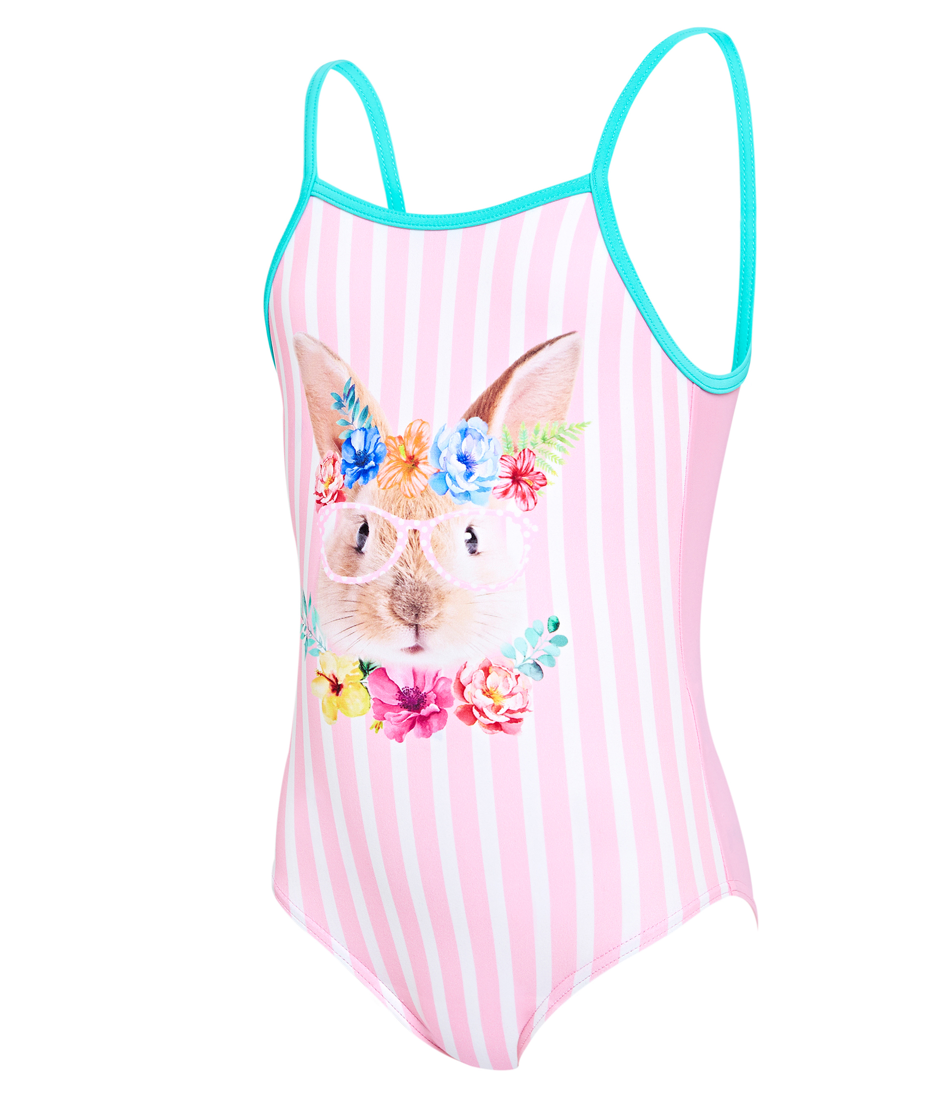 Zoggs Toddler Girls Tropical Bunny U Back Swimsuit