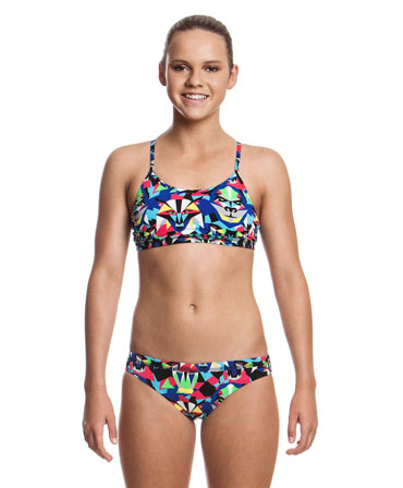 Funkita Girls Primal Predator Sports Bikini
