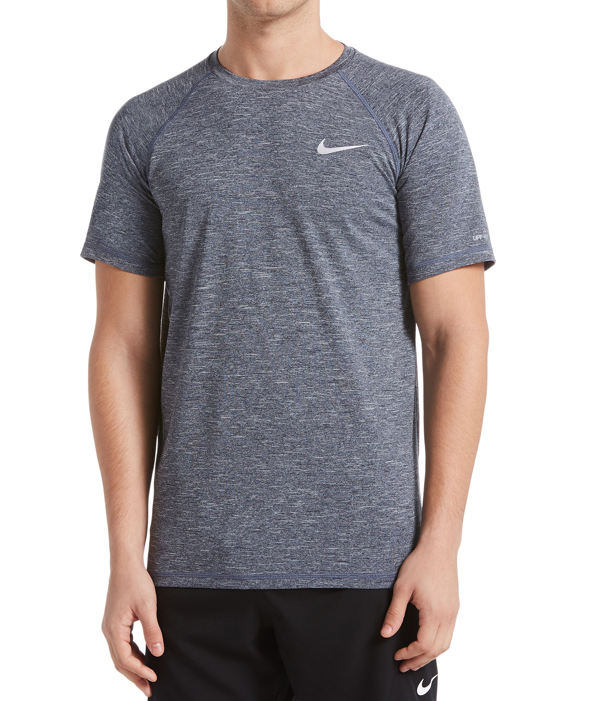 Nike Swim Mens Heather Short Sleeve Hydroguard
