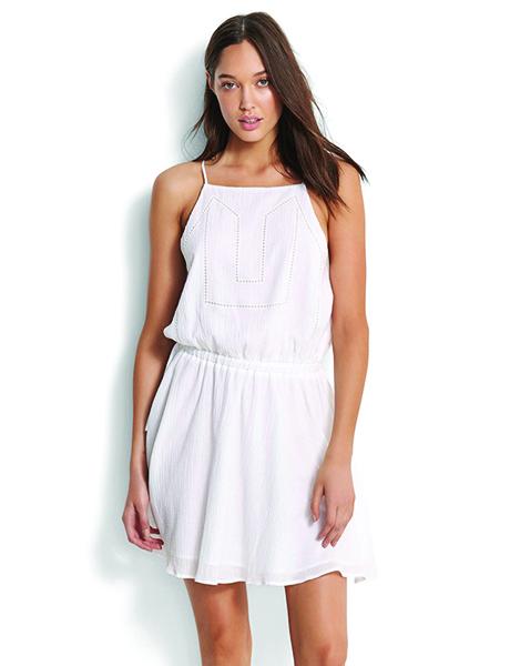 Seafolly Palm Beach Ladder Tape Dress - White