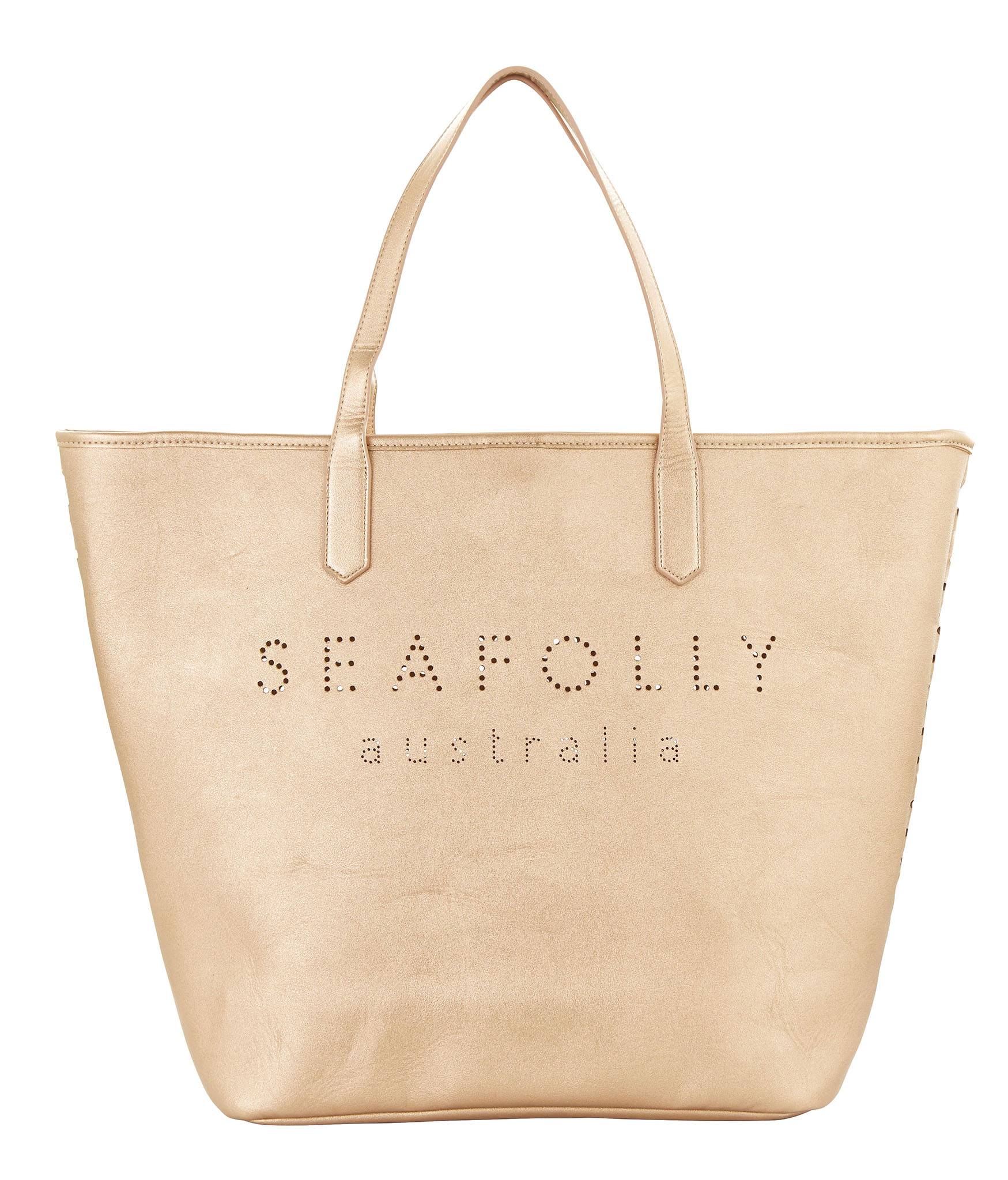 Seafolly Carried Away Vegan Leather Tote - Rose Gold