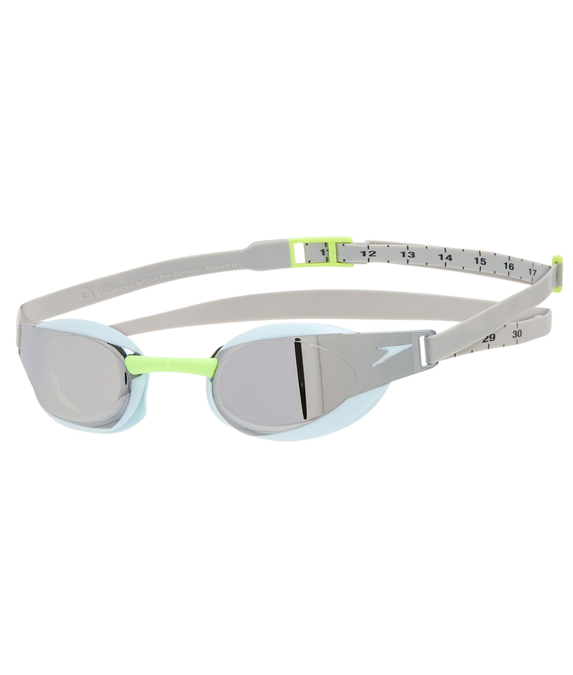Speedo Fastskin Elite Mirror Goggle - Blue/Silver