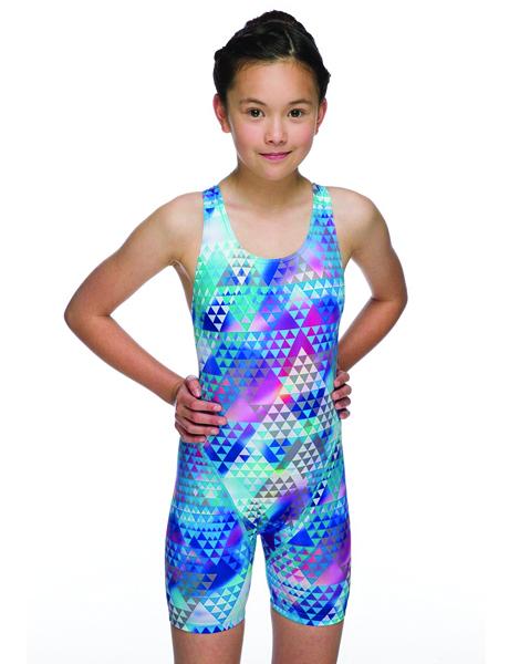 Maru Girls Tri Pacer Leg Suit - Blue