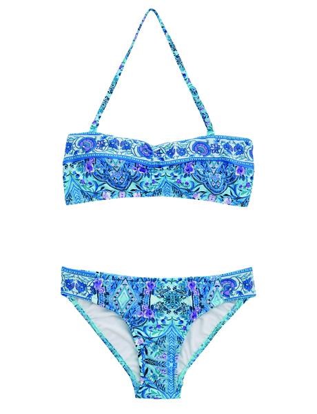 Seafolly Girls Gypsy Dream Mini Tube Bikini - Aqua Sky