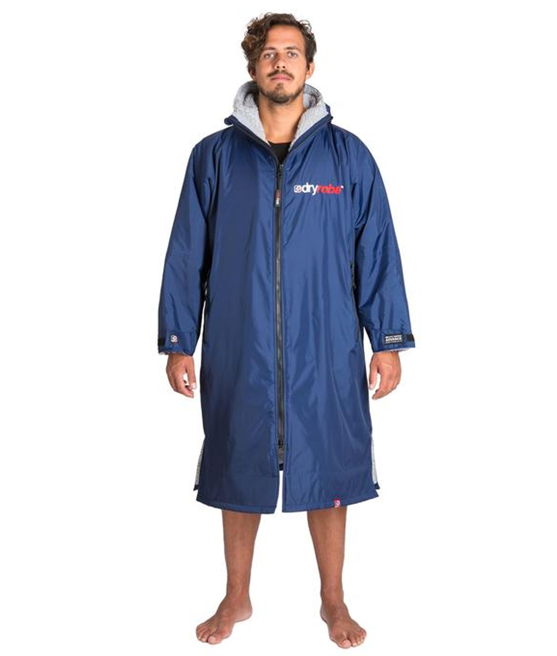 Dryrobe Advance Long Sleeve Navy Blue/Grey - Large