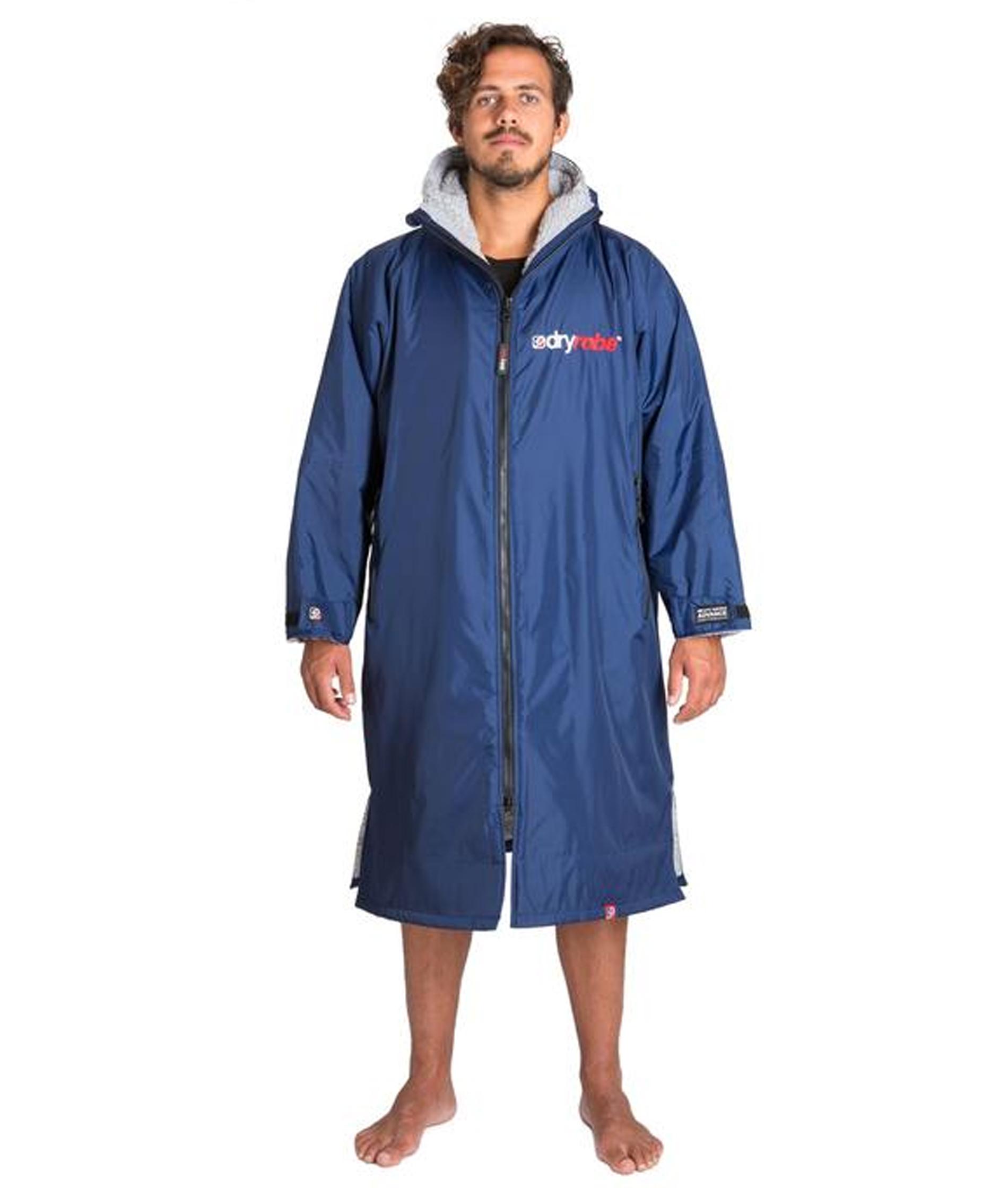 Dryrobe Advance Long Sleeve Navy Blue/Grey - Large