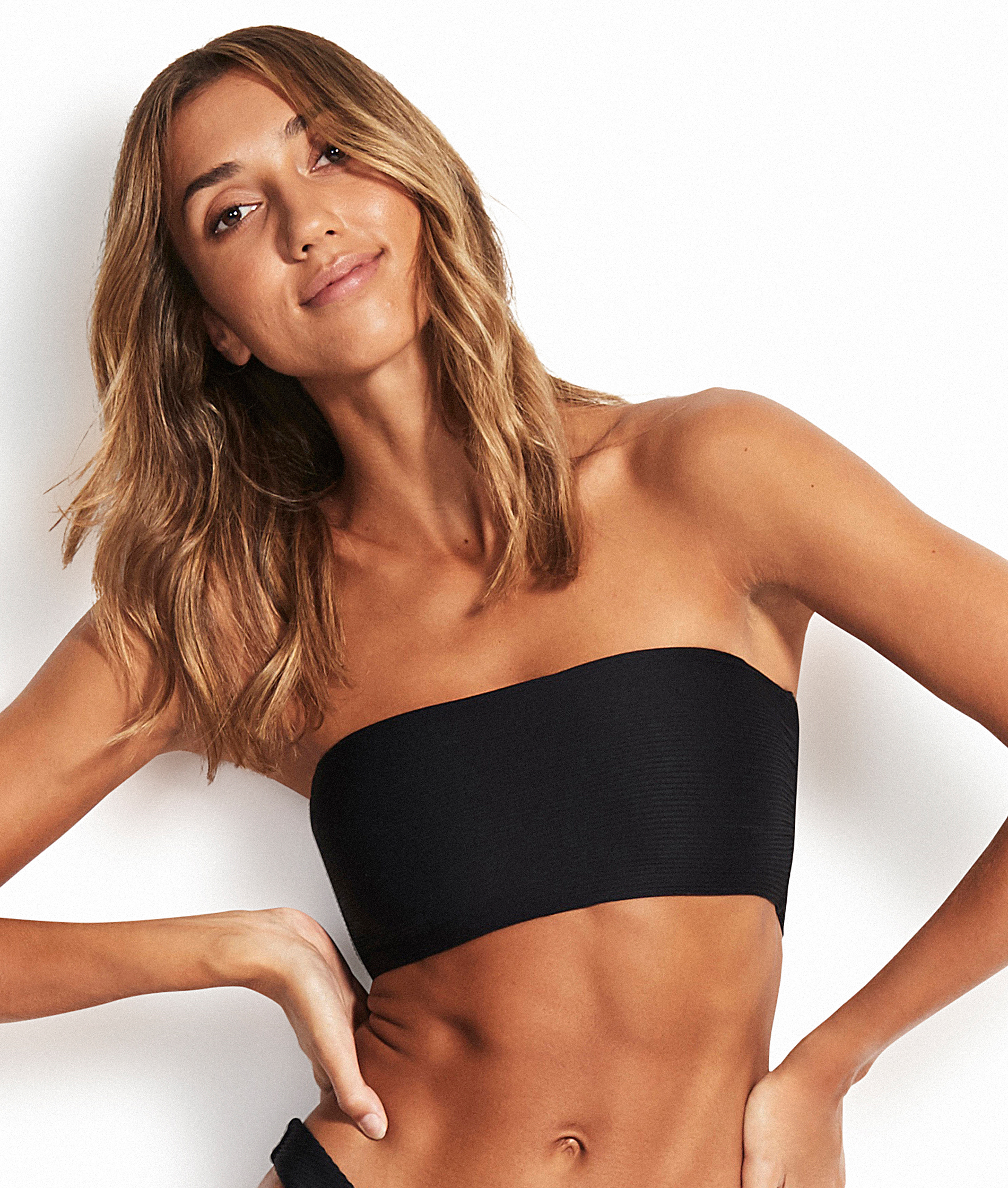 Seafolly Essentials Tube Bandeau Bikini Top - Black