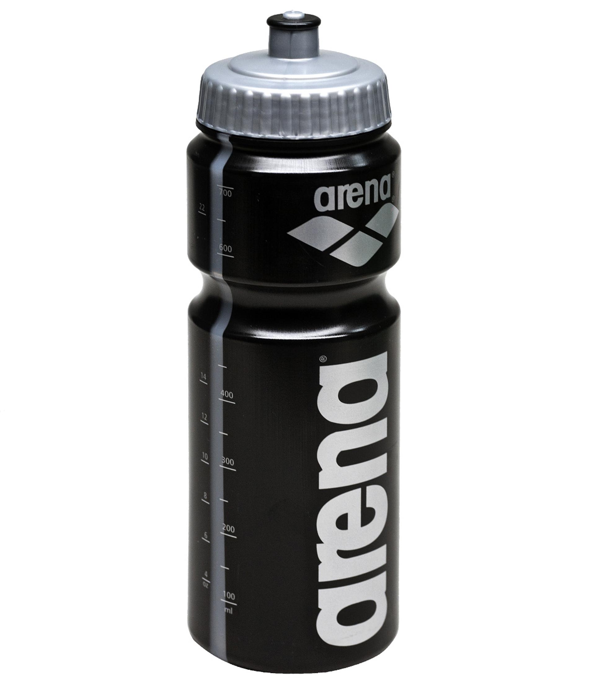 Arena 750ml Water Bottle - Black/Silver