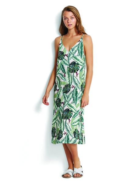 Seafolly Palm Beach Dress - Moss