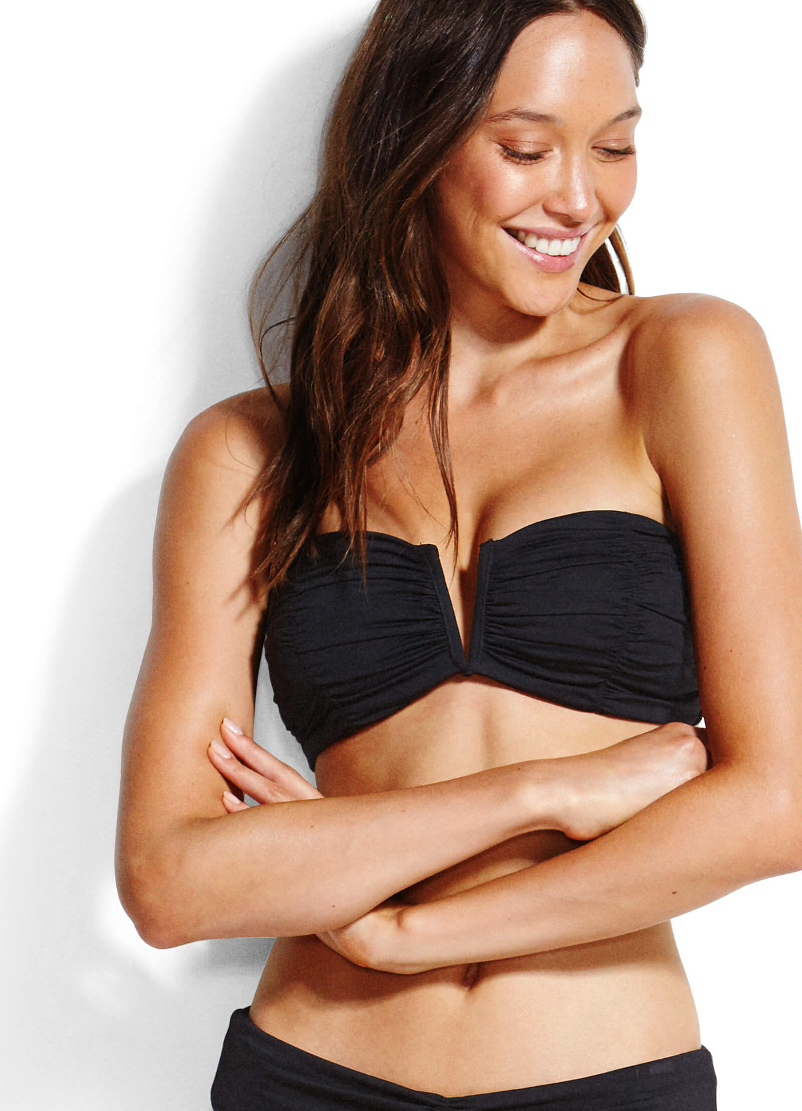 Seafolly Ruched Bandeau Bikini Top - Two colour options