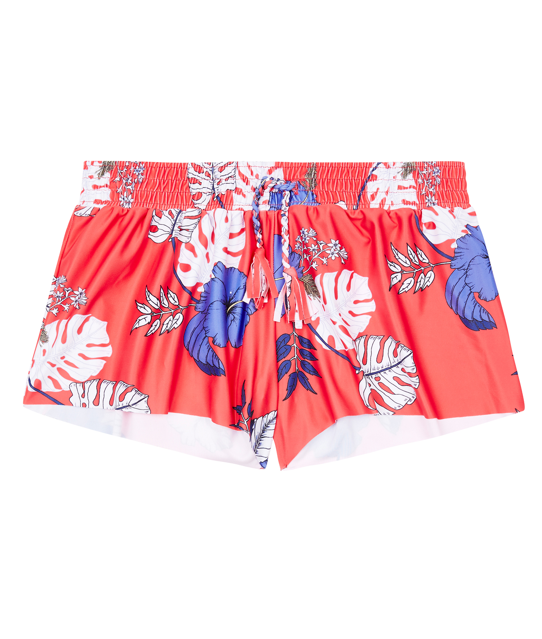 Seafolly Kids Girls Tropical Vibes Boardie - Hibiscus Red