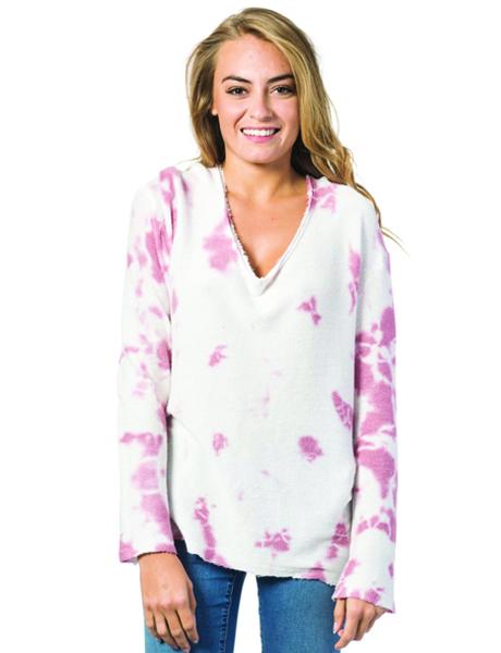 Rip Curl Pasha Crew Fleece - Pink/White