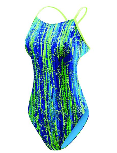 TYR Ladies Hiromi Trinityfit Swimsuit - Blue/Green