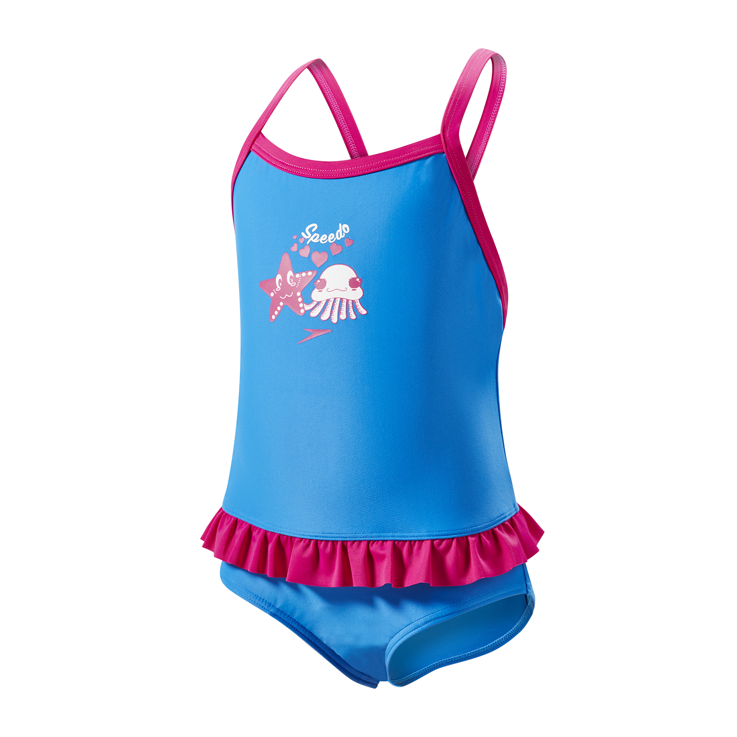 Speedo Toddler Girls Fantasy Flowers Frill Suit