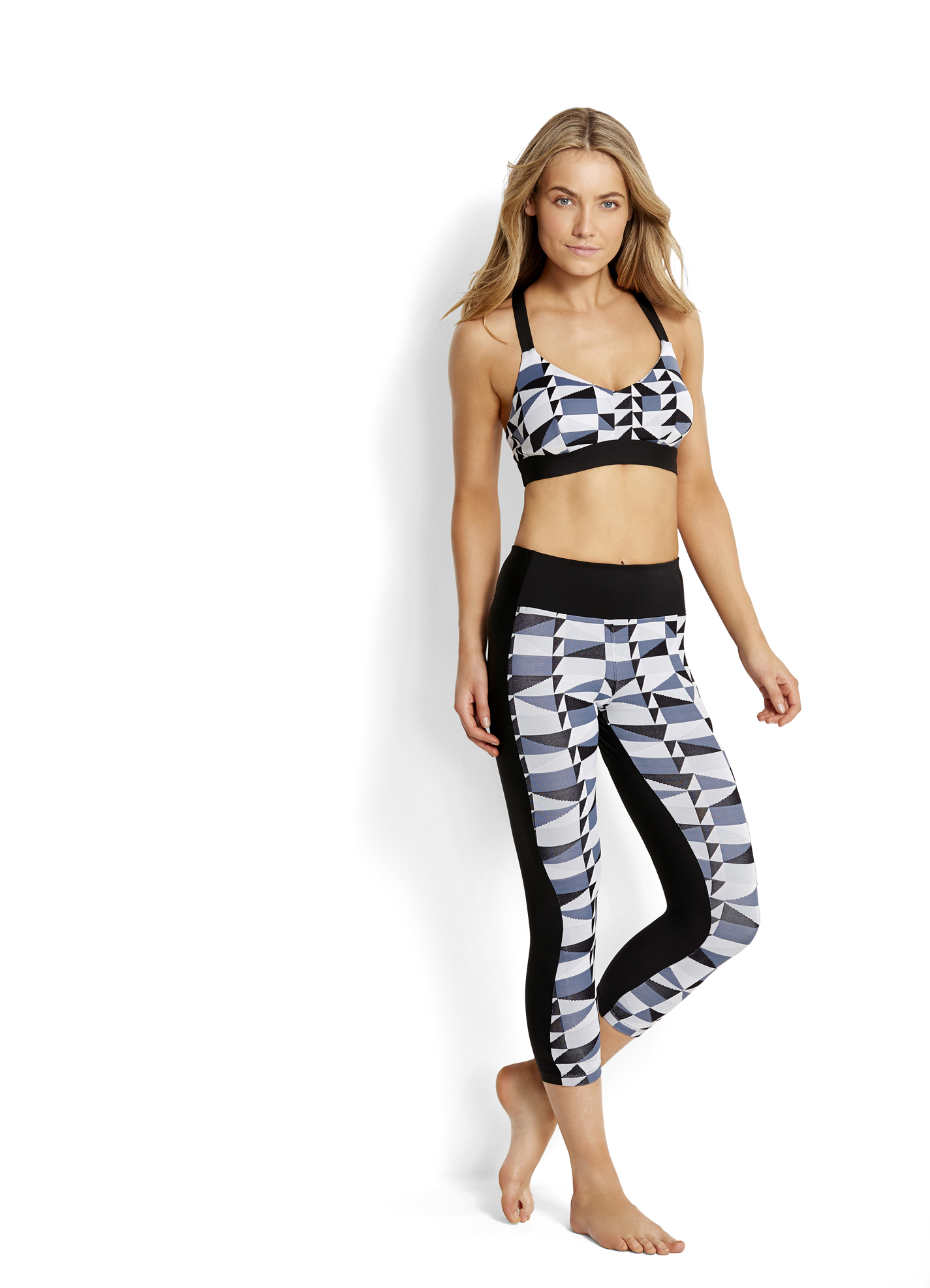 Seafolly Jagged Geo 3/4 Length Legging