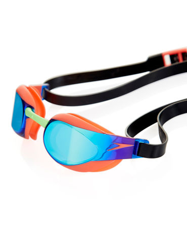 Speedo Fastskin Elite Mirror Goggles (Orange/Green)