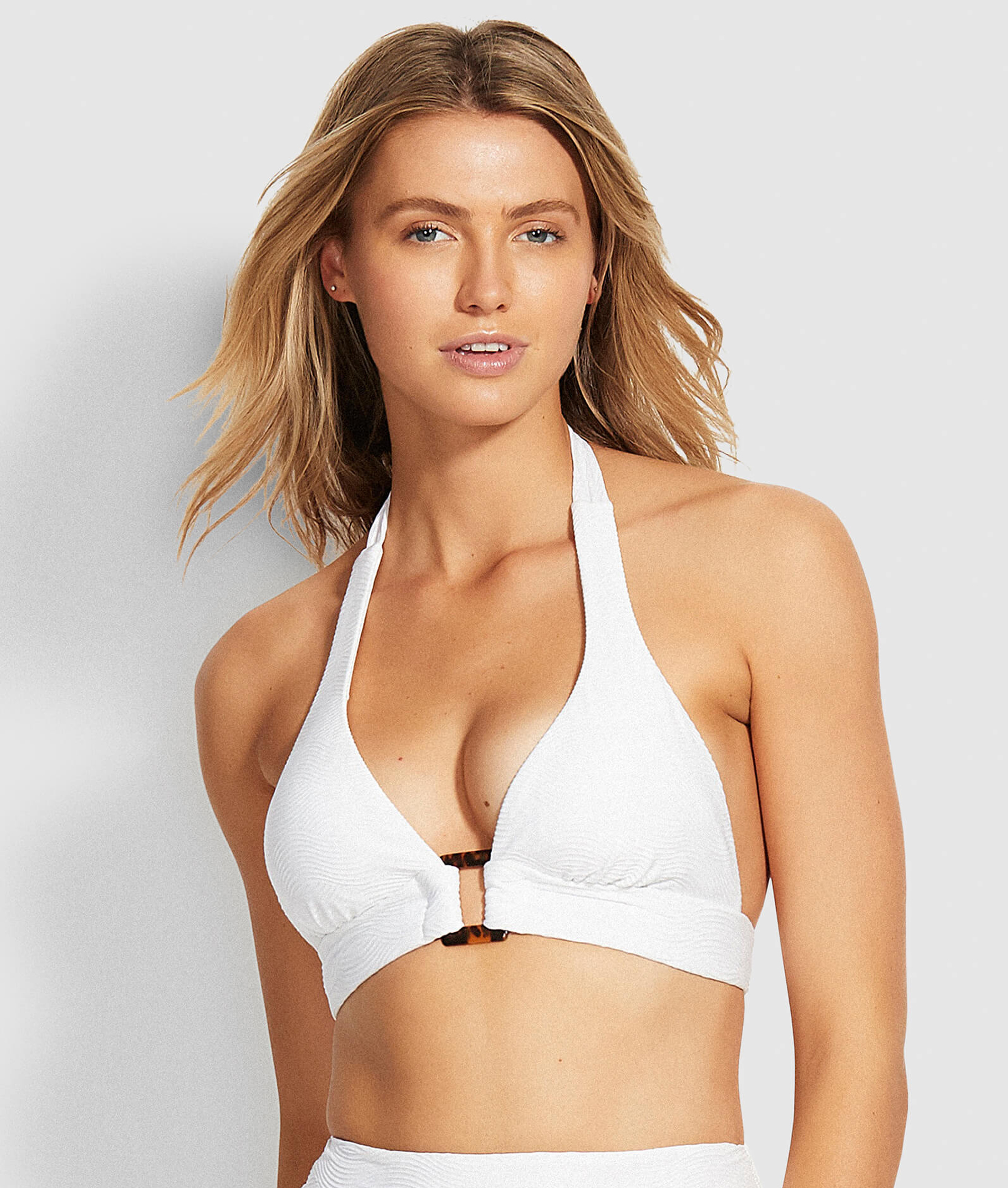 Seafolly Ladies Capri Sea Halter Bra Bikini Top - White