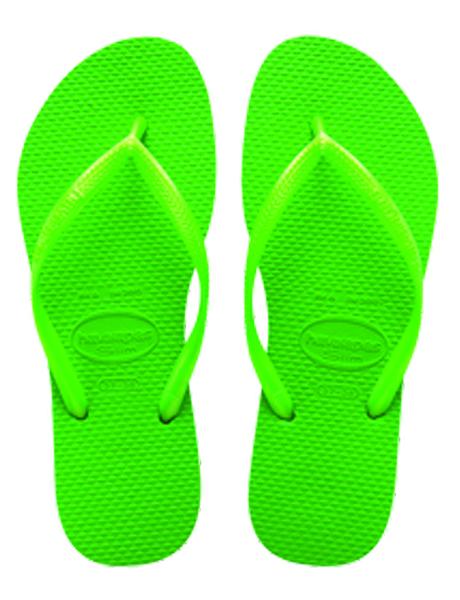 Havaianas Slim Neon Green (Size 8)