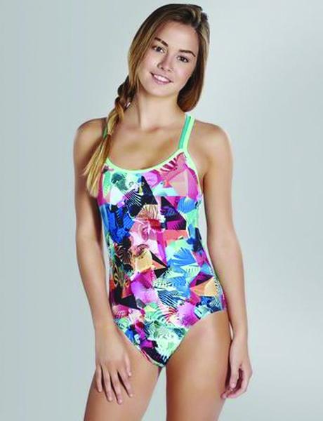 Speedo Ladies Flipturns Cross Back Swimsuit
