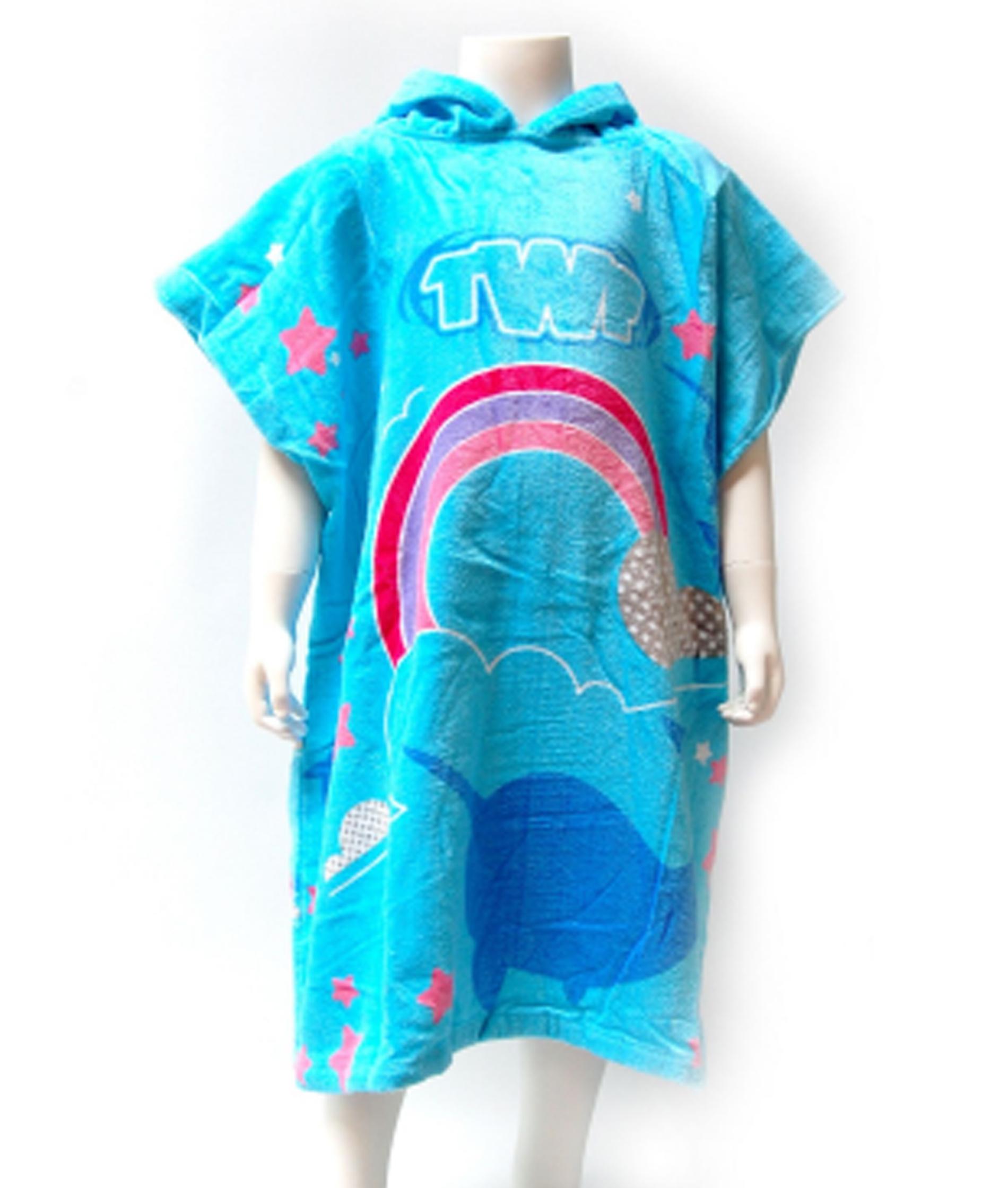 TWF Kids Hooded Towel Poncho - Narhwal