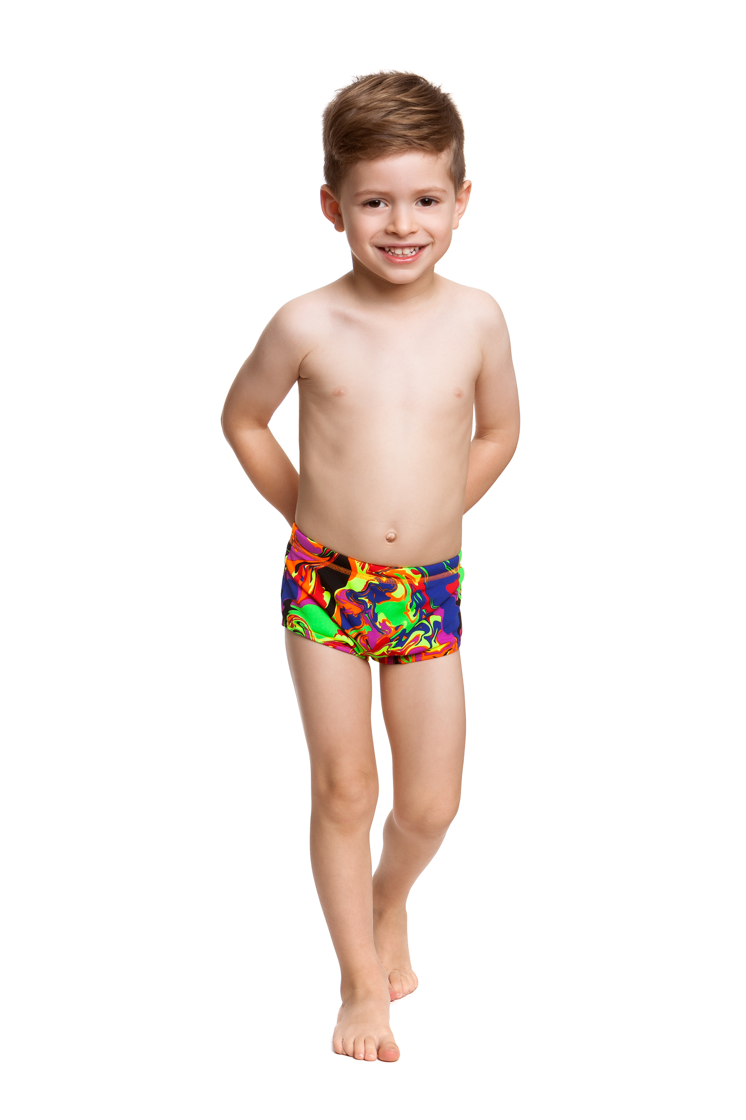 d48cc6fad9 Funky Trunks Toddler Boys printed Trunks Liquefied