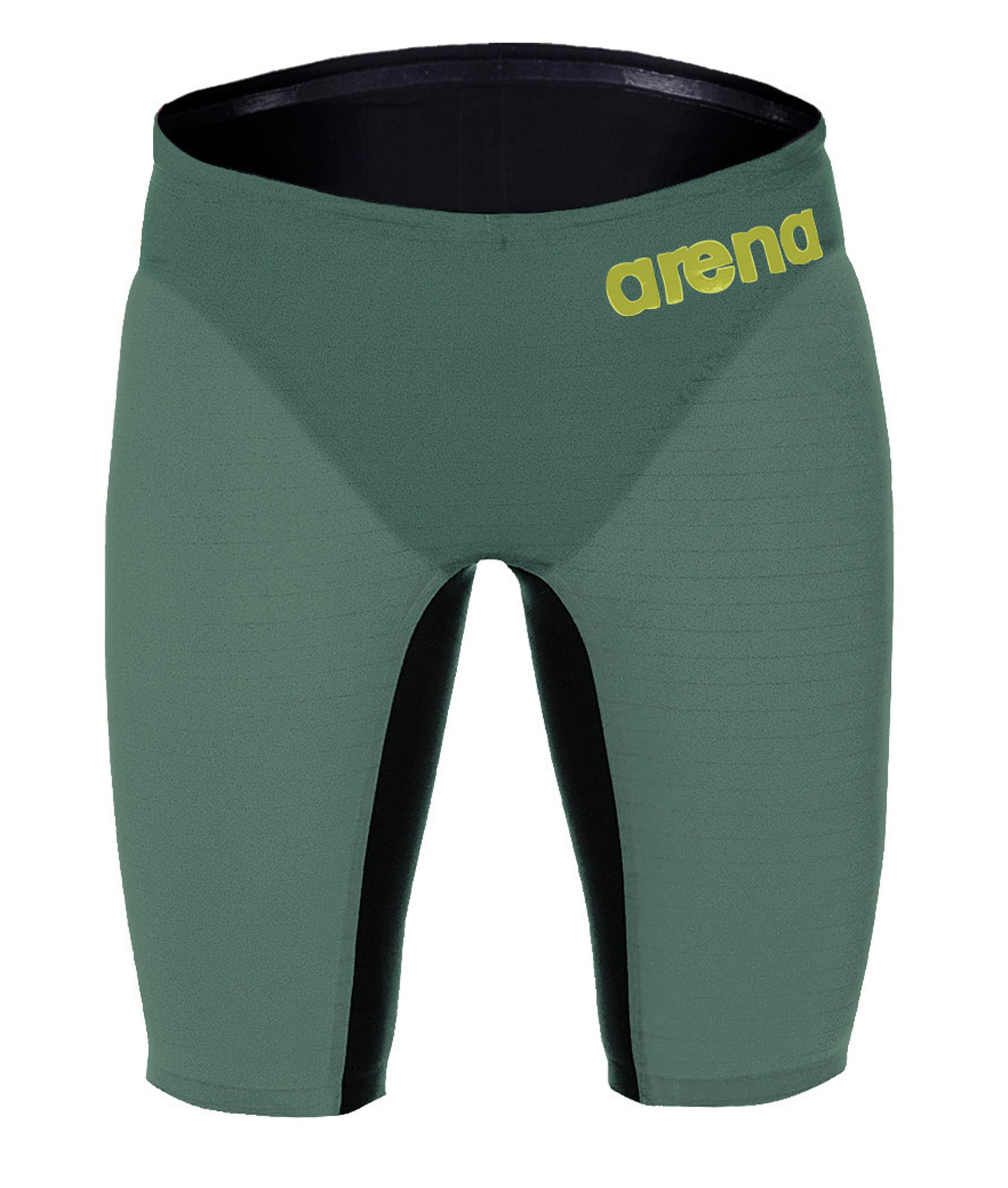 Arena Mens Powerskin Carbon Air Jammer – Dark Green/Red
