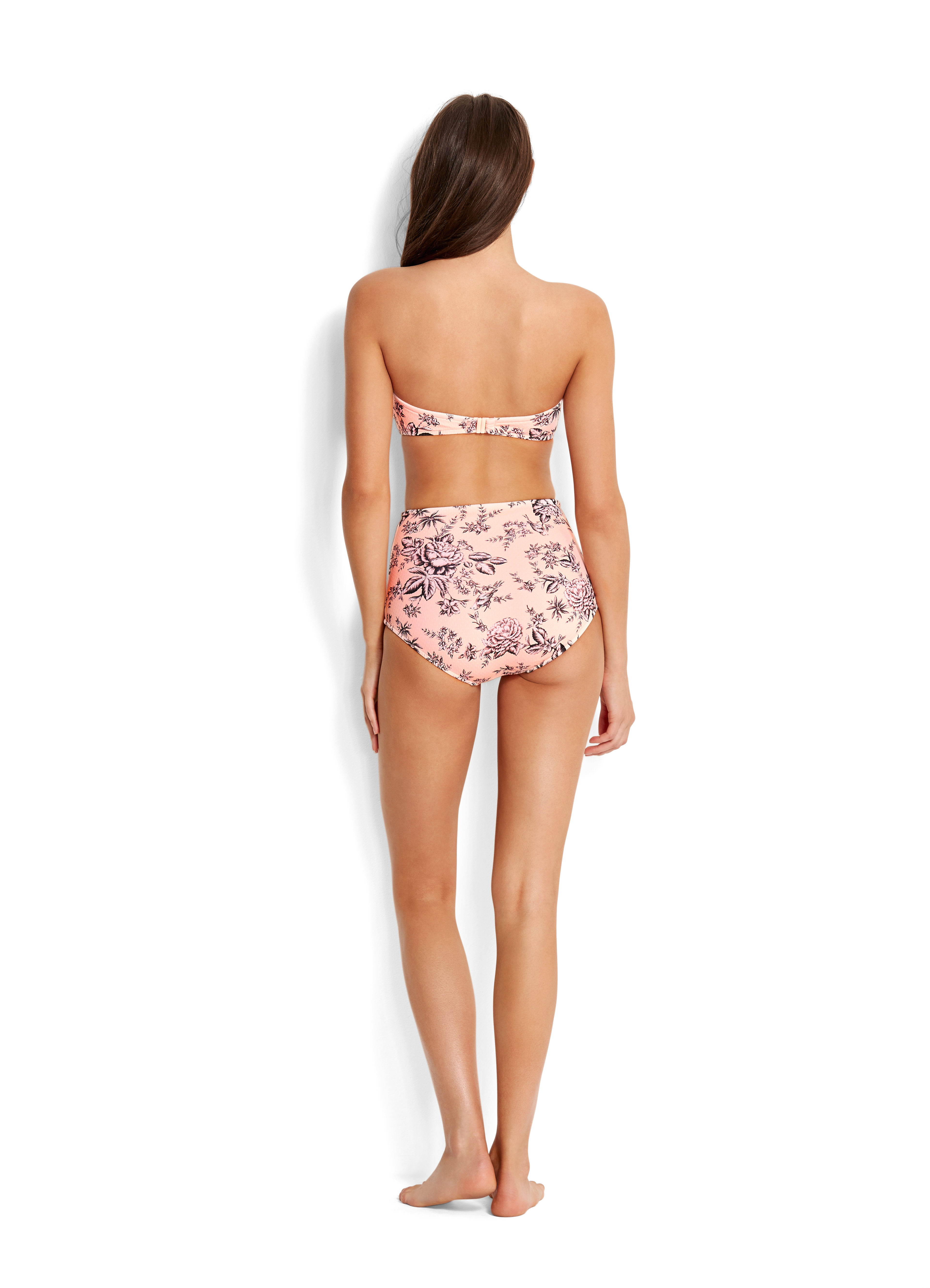 5dfdbd1ee3 Seafolly Love Bird High Waisted Bikini Pant - Peach | Dolphin Swimware