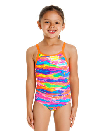 Funkita Toddler Girls Hot Wash Printed One Piece
