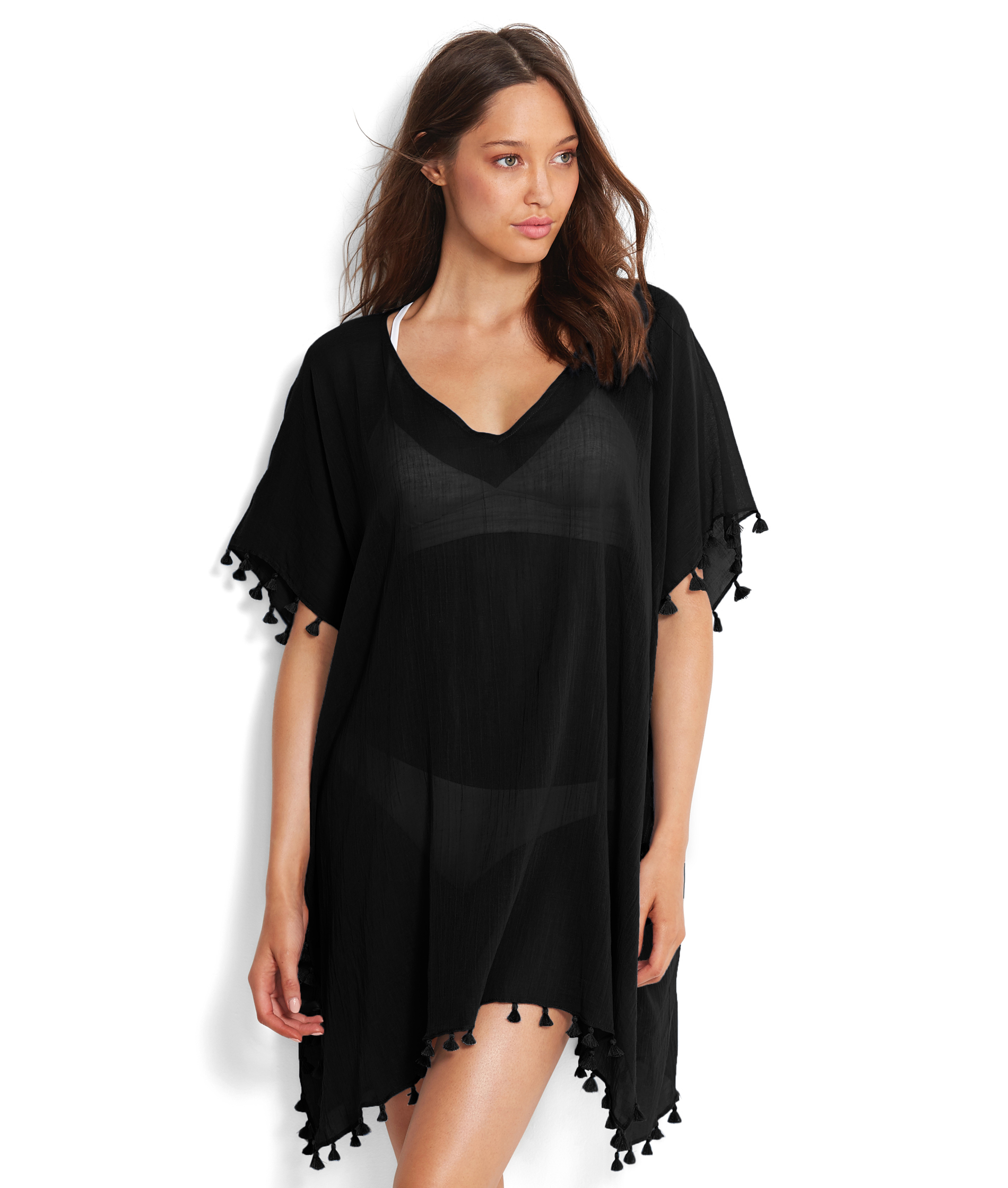 Seafolly Amnesia Kaftan - Black