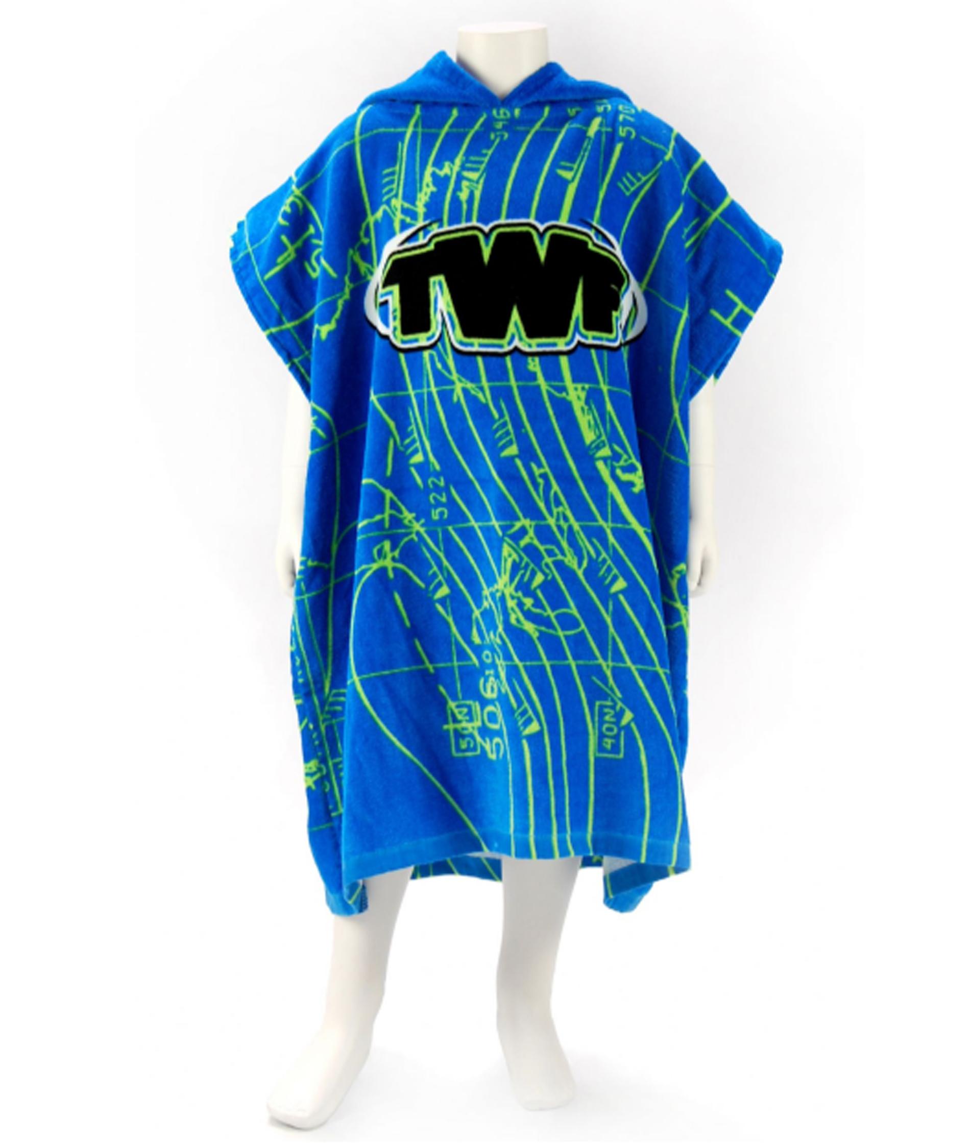 TWF Kids Hooded Towel Poncho - Weathermap
