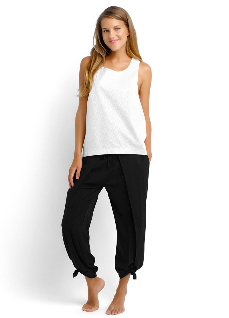 Seafolly Rap It Pant in Black and White