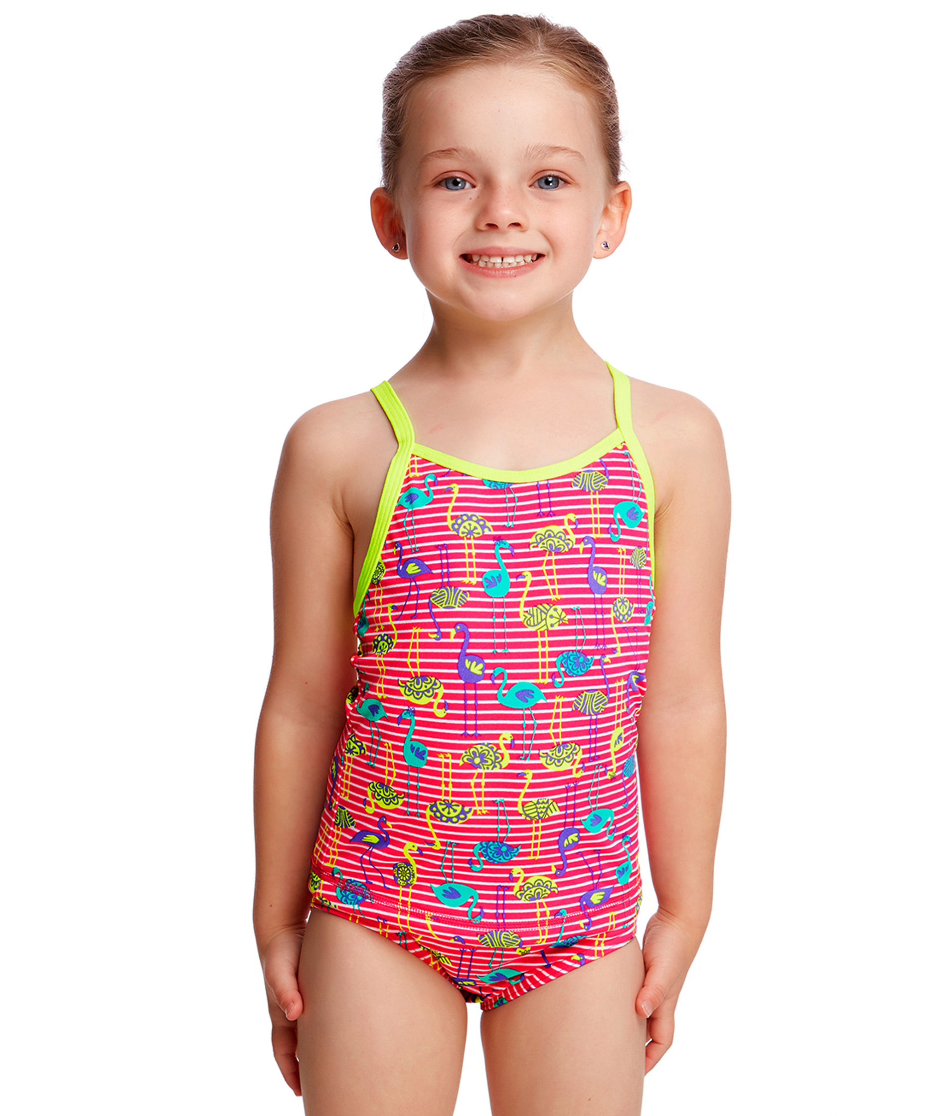 Funkita Toddler Girls Flaming Stripes Printed Tankini