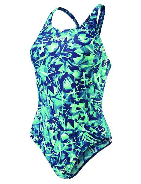 Speedo Ladies Rotoscope Allover Powerback Swimsuit