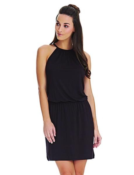 Freya Coastline Halterneck Dress - Black