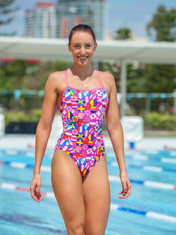Funkita Ladies Single Strap One Piece Nations United