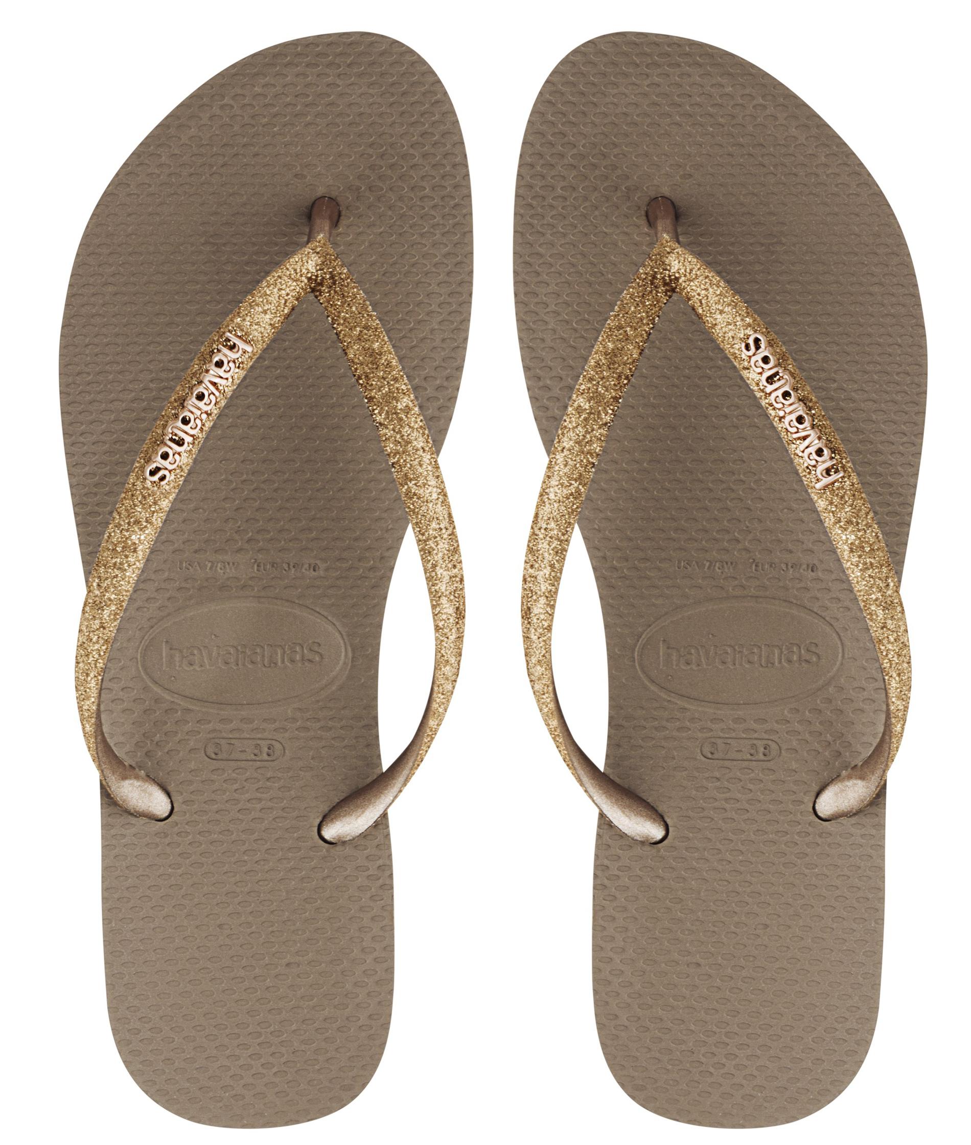 Havaianas Slim Glitter - Gold